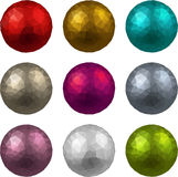 Set of textured realistic balls Royalty Free Stock Images