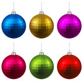 Set of textured realistic christmas balls. Stock Image