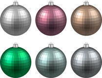 Set of textured realistic christmas balls. Royalty Free Stock Photography