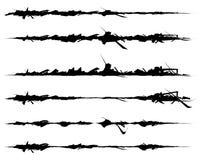 Set textured szczotkarscy uderzenia Cięcie, szkoda skutki ilustracji