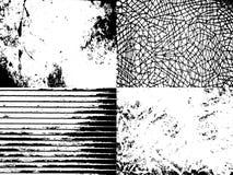 set texturer för grunge Arkivfoton