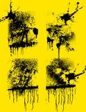set texturer för idérik grunge Fotografering för Bildbyråer