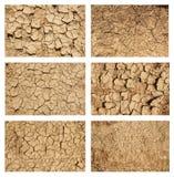 set texturer för jordning Arkivfoto