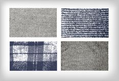 Set of  textures cloth jeans tweed stock illustration