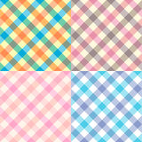 Set  of textures of fabrics in a cage Royalty Free Stock Photo