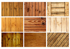 Set textures of old wooden boards Royalty Free Stock Photo