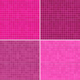 Set of textures pink tile floor Stock Photography