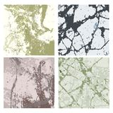 Set of textures 4. Set of beautiful stone textures in soft green and brown tones Royalty Free Stock Photo