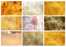 Set textures of stucco. Collection textures of stucco different color Royalty Free Stock Image