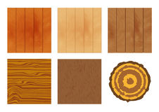Set of textures of wood. Wood plank texture background. Vector wood texture. Types of wood floors. Wooden background. Illustration of wood Stock Images