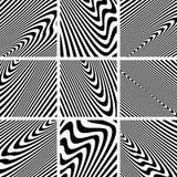 Set of textures in zebra pattern design. Stock Photo