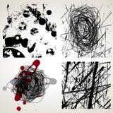 set texturvektor för grunge Royaltyfria Bilder