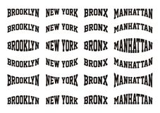 Set 5th City Text in New York Typography design. T-shirt Graphic, Vector Images royalty free illustration