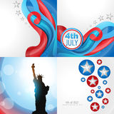 Set of 4th july american independence day background. Vector set of 4th july american independence day background with abstract illustration royalty free illustration