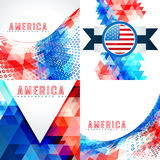 Set of 4th july american independence day background. Vector set of 4th july american independence day background illustration with creative pattern Stock Image