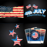 Set of 4th july american independence day background Royalty Free Stock Photography