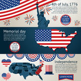 Set - 4th of July banners. Vector Royalty Free Stock Photography