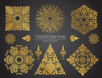 Set of Thai art element, Decorative motifs. Ethnic Art, icon Stock Images
