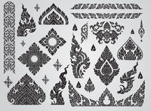 Set of Thai art element, Decorative motifs. Ethnic Art, icon. Vector Royalty Free Stock Photo