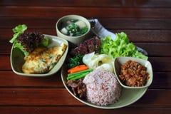 set thai för mat Arkivfoton