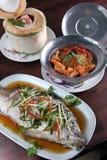 Set of Thai food menu Stock Images