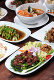 Set of Thai food menu Stock Photography