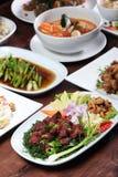 Set of Thai food menu Stock Photography