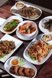 Set of Thai food menu Royalty Free Stock Photography