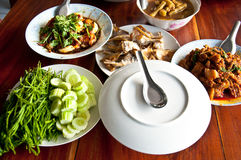 Set of Thai food popular menu Stock Photography