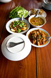 Set of Thai food popular menu Royalty Free Stock Photo