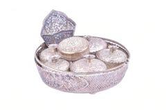 Set of Thai silverware Stock Photos