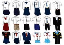 Set of thai student uniform Royalty Free Stock Photos