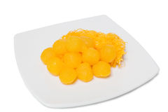 Set thai sweetmeat dessert on dish made from egg and sugar Royalty Free Stock Photography