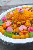 A set of Thai traditional dessert which usually use in Thai Royalty Free Stock Photo