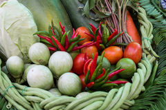 Set of thai vegetable Stock Photos