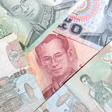 Set of Thailand banknotes. Stock Photos