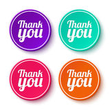 Set of thank you stickers, labels Stock Images