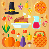 Set for thanksgiving day Royalty Free Stock Photos