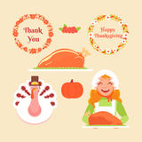 Set Thanksgiving Royalty Free Stock Photography