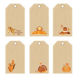 Set of thanksgiving tags Royalty Free Stock Image