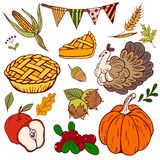 Set thanksgiving Royalty Free Stock Photo