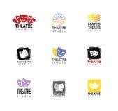 Set Of Theatre Studio Logo Design stock illustration