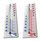 Set of thermometers Stock Image