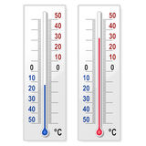 Set of thermometers Stock Photo
