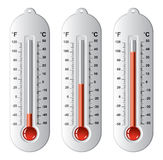 Set of thermometers at different levels, vector  Stock Photo