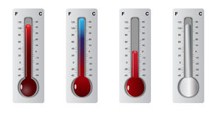 Thermometer set Stock Photography