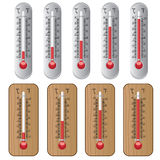 Set of thermometers. Stock Photo