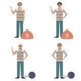 Set of Thieves Stock Image