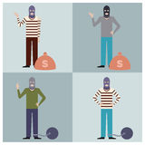 Set of Thieves3 Stock Photography
