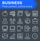 Set of thin line business icons. Royalty Free Stock Photo